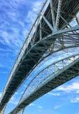 Dual broar över till Kanada Arkivbild