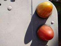 Dual car lamp. Cars, landrover, abstract royalty free stock images