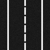 Dual carriageway. A highly realistic asphalt road surface, with painted road markings Stock Image