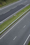 Dual carriageway two lane blacktop road Royalty Free Stock Photography