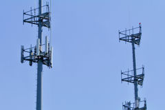 Dual Cell Towers stock photography