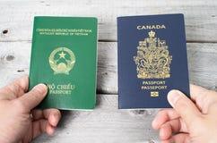Dual citizenship concept Stock Photo