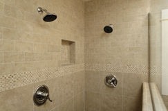 Dual Control Shower Area stock images