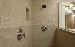Dual Control Shower Area Royalty Free Stock Images