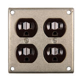Dual Electric Outlet Stock Photos