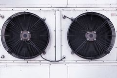 Dual fan installation of industrial air conditioning. royalty free stock images