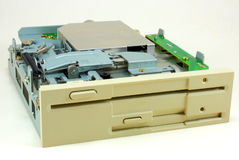 Dual floppy drive Royalty Free Stock Images