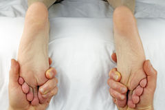 Dual Foot Rub Royalty Free Stock Photography