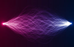 Dual forces abstract vector (eps10). Dual beam forces of electric,fusion,reaction,etc Stock Image
