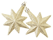 Dual gold stars Royalty Free Stock Photos