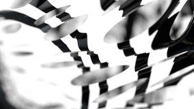 Dual Graph Displacement, 3D Rendering Composition, Blur Bokeh De. Focused On Black Background Stock Photos
