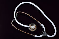 Dual head stethoscope isolated on black Stock Photos