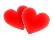 Dual Hearts Stock Photography