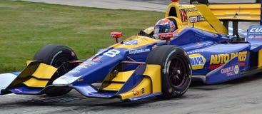 Dual i det Detroit IndyCar loppet Arkivbild