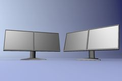 Dual LCD displays Royalty Free Stock Image