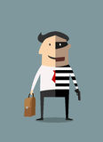 Dual lifestyle, businessman and thief Royalty Free Stock Image