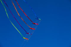 Dual line stunt kite stack 6 Royalty Free Stock Images
