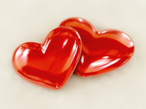 Dual love. Full of reflections - 3D illustration Royalty Free Stock Images