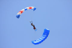 Dual Parachute stunt Royalty Free Stock Photos