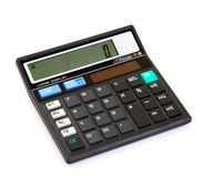 Dual power digital calculator Stock Image