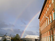 Dual rainbow -Sweden. Royalty Free Stock Photography