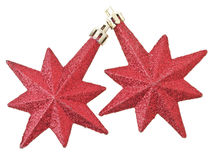 Dual red stars Royalty Free Stock Photo