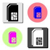 dual sim card. flat vector icon royalty free illustration