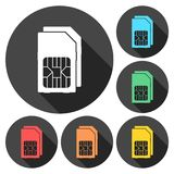 Dual SIM cards icon. Vector icon stock illustration