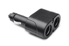 Dual socket car lighter charger Stock Photography