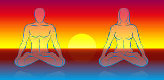 Dual Soul Meditation Royalty Free Stock Images