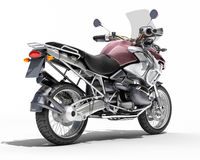 Dual-sports motorcycle close-up Stock Photography
