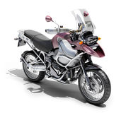 Dual-sports motorcycle close-up Royalty Free Stock Images