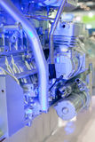 Dual-use petrol car engine Stock Photography