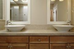 Dual Vessel Sink Vanity Stock Image