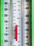 Dual wheather thermometer Stock Image