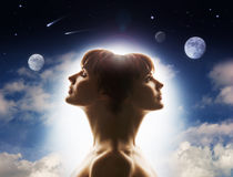 Dualité de nature humaine Image stock
