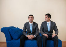 Duality. Example of dual personality at psychologist Royalty Free Stock Images