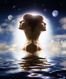 Duality of human nature. Private world Royalty Free Stock Photography