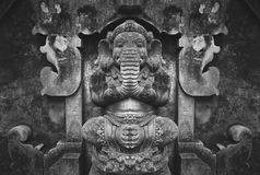 Duality. Traditional balenies sculpturing. Their art depicts the personalities and facts according to Hindu belief. Such sculptures can be found in every Royalty Free Stock Image