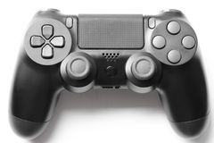 DualShock 4 Wireless Controller for PlayStation 4, video game controller analog, popular manual joystick isolated on white bg. DualShock 4 Wireless Controller stock photo