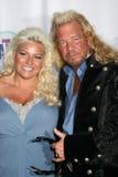 Duane «chien Chapman et épouse Beth The Realiity Awards 2008 du chasseur de générosité» - Beverly Hills, CA Photo stock