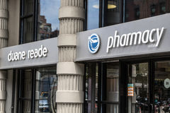 Duane Reade. New York, June 27, 2016: Duane Reade pharmacy store front Stock Image