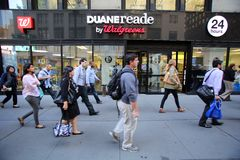 DUANE READE/WALGREENS PHARAMACY Photographie stock libre de droits