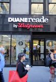 DUANE READE/ WALGREENS PHARAMACY. NEW YORK CITY - SEPT. 10, 2014: A Duane Reade pharmacy in New York City on September 10, 2014. Duane Reade is a division of Royalty Free Stock Photo