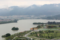 Duanzhou Zhaoqing Star Lake Park scenery Royalty Free Stock Photo