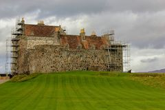Duart Castle of Clan MacLean-Isle of Mull, Scotland. Duart Castle of Clan Maclean, located on the Isle of Mull in Scotland. Preservation and restoration have Stock Photos
