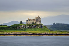 Duart Castle. On green hill, Isle of Mull, Scotland Stock Image