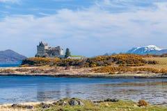 Duart-Schloss, Landschaft von Mull Insel stockfotos