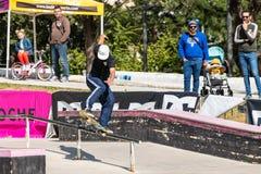 Duarte Pires under den 1st utmaningen för etappDC-skridsko Royaltyfria Foton