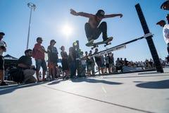 Duarte Pombo κατά τη διάρκεια της πρόκλησης ΣΥΝΕΧΩΝ σαλαχιών Στοκ Φωτογραφίες